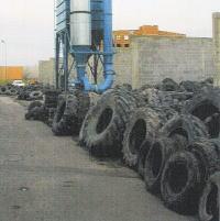 リサイクルされるタイヤ